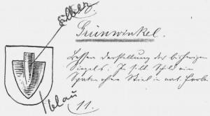Wappenvorschlag um 1900
