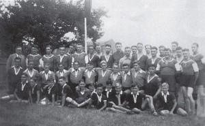 Die Handballmannschaften des TSV Grünwinkel 1935