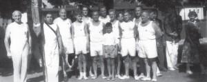 Turner des TSV Grünwinkel beim Landesturnfest 1957 in Mannheim.