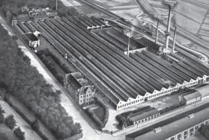 Gesamtansicht der Fabrikanlage Junker & Ruh.