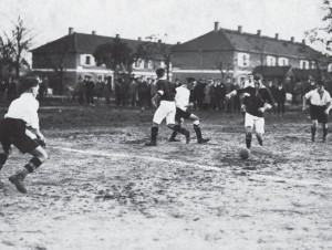 Heimspiel des FV Grünwinkel in den 1920er Jahren.