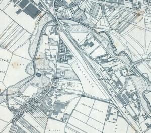 Plan der Gemeinde Grünwinkel im Jarh 1908.