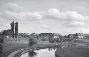 Die Gartenvorstadt grenzte im Norden an das Gestade der Alb.