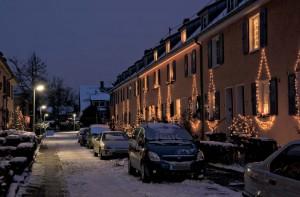 Alljährlich in der Adventszeit schmücken die Bewohner der Forchheimer Straße gemeinsam ihre Häuser mit vielen Lichtern.