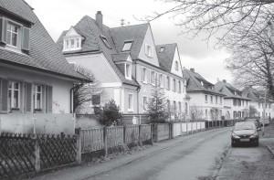 Blick von Westen in die Silcherstraße.