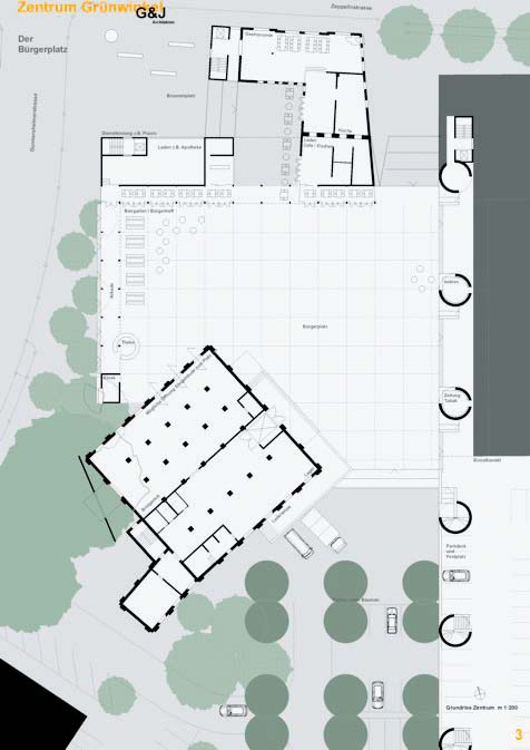Entwurf Des Büros Gudmundsdóttir Und Jungmann Für Den Zentralen Platz.