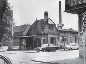 Eingang zum Frimengeländer Junker und Ruh in den 1960er Jahren.