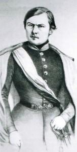 Franz Sigel, revolutionärer Politiker, später amerikanischer General, entnommen Baden Land Staat Volk 1806-1871, Karlsruhe 1980.