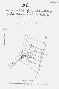 Lageplan mit dem strittigen Grundstück des Landwirts Albecker.