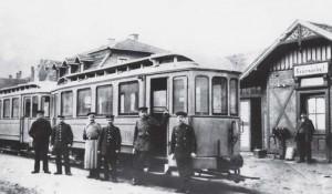 Der Bahnhof in Grünwinkel um 1900.