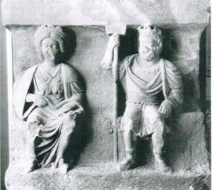 Relief von Sucellus und Nantosuelta.